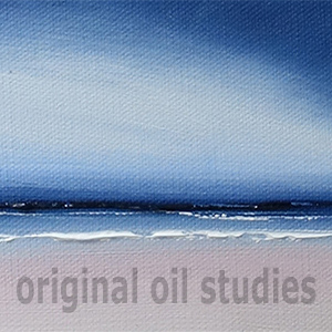 mini oil paintings - 15cm x 10cm - £48 each with free mini easel